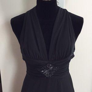 Sexy WHBM low cut black dress, size 2